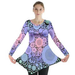 An Abstract Background Consisting Of Pastel Colored Circle Long Sleeve Tunic