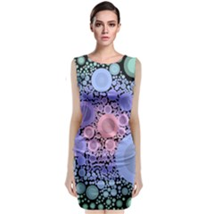 An Abstract Background Consisting Of Pastel Colored Circle Classic Sleeveless Midi Dress