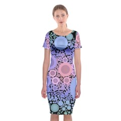 An Abstract Background Consisting Of Pastel Colored Circle Classic Short Sleeve Midi Dress