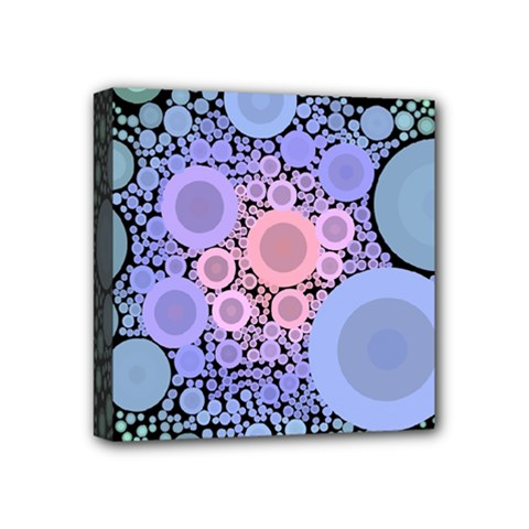 An Abstract Background Consisting Of Pastel Colored Circle Mini Canvas 4  X 4