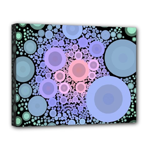 An Abstract Background Consisting Of Pastel Colored Circle Canvas 14  X 11