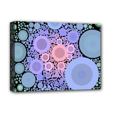 An Abstract Background Consisting Of Pastel Colored Circle Deluxe Canvas 16  X 12