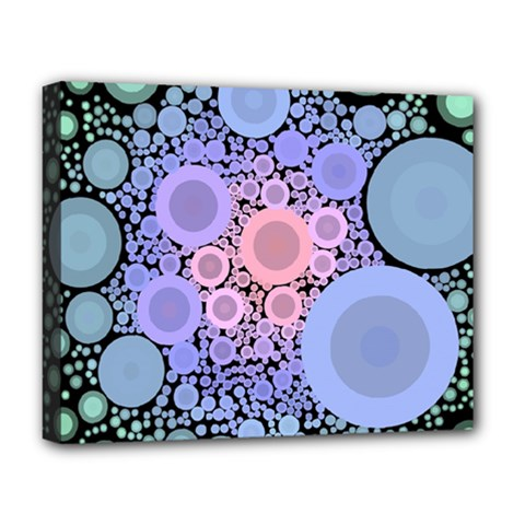 An Abstract Background Consisting Of Pastel Colored Circle Deluxe Canvas 20  x 16