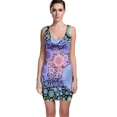 An Abstract Background Consisting Of Pastel Colored Circle Sleeveless Bodycon Dress