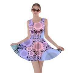 An Abstract Background Consisting Of Pastel Colored Circle Skater Dress
