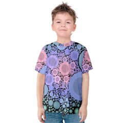 An Abstract Background Consisting Of Pastel Colored Circle Kids  Cotton Tee