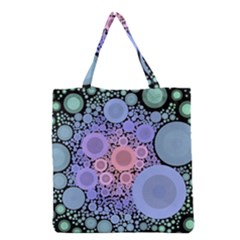 An Abstract Background Consisting Of Pastel Colored Circle Grocery Tote Bag