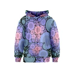 An Abstract Background Consisting Of Pastel Colored Circle Kids  Zipper Hoodie