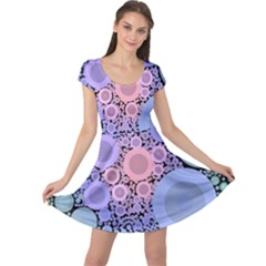 An Abstract Background Consisting Of Pastel Colored Circle Cap Sleeve Dresses
