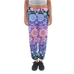 An Abstract Background Consisting Of Pastel Colored Circle Women s Jogger Sweatpants