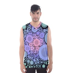 An Abstract Background Consisting Of Pastel Colored Circle Men s Basketball Tank Top