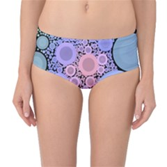 An Abstract Background Consisting Of Pastel Colored Circle Mid-Waist Bikini Bottoms