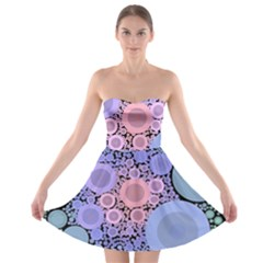 An Abstract Background Consisting Of Pastel Colored Circle Strapless Bra Top Dress