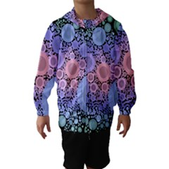 An Abstract Background Consisting Of Pastel Colored Circle Hooded Wind Breaker (kids)