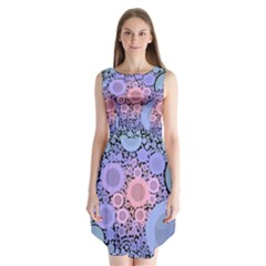 An Abstract Background Consisting Of Pastel Colored Circle Sleeveless Chiffon Dress