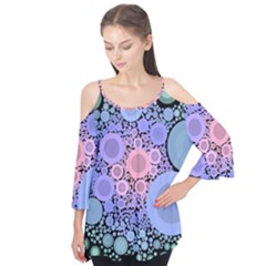 An Abstract Background Consisting Of Pastel Colored Circle Flutter Tees
