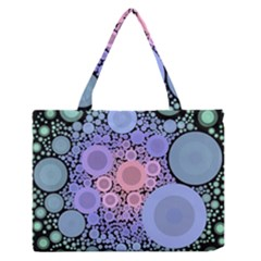 An Abstract Background Consisting Of Pastel Colored Circle Medium Zipper Tote Bag