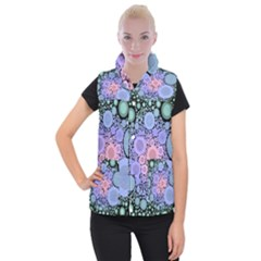 An Abstract Background Consisting Of Pastel Colored Circle Women s Button Up Puffer Vest