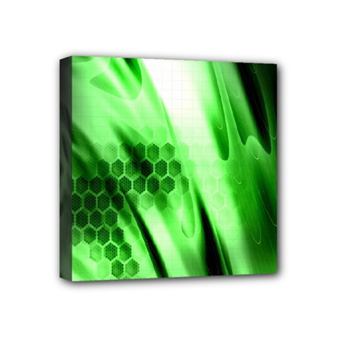 Abstract Background Green Mini Canvas 4  X 4