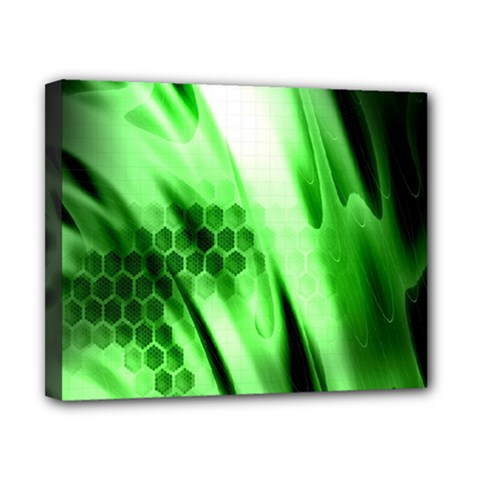 Abstract Background Green Canvas 10  X 8