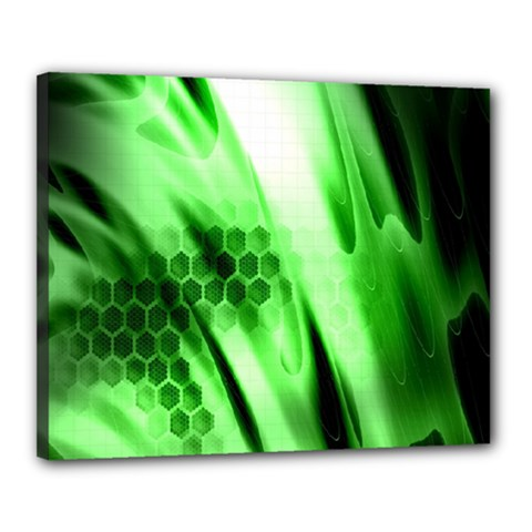 Abstract Background Green Canvas 20  X 16
