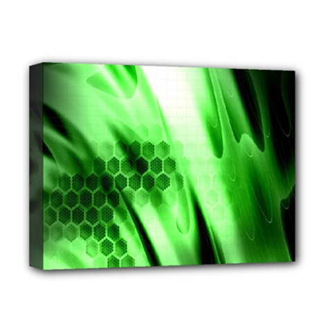 Abstract Background Green Deluxe Canvas 16  x 12