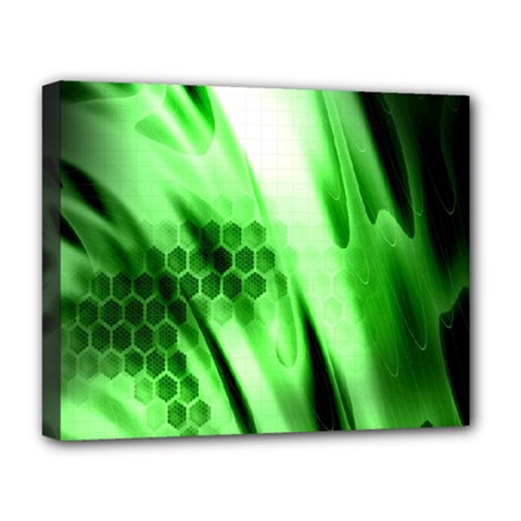 Abstract Background Green Deluxe Canvas 20  x 16