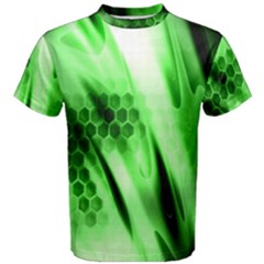 Abstract Background Green Men s Cotton Tee