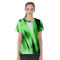 Abstract Background Green Women s Cotton Tee