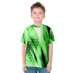 Abstract Background Green Kids  Cotton Tee