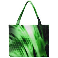 Abstract Background Green Mini Tote Bag