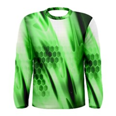 Abstract Background Green Men s Long Sleeve Tee