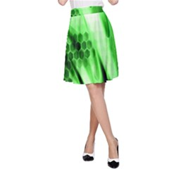 Abstract Background Green A Line Skirt