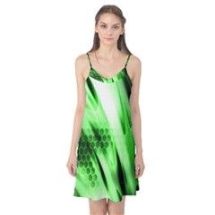 Abstract Background Green Camis Nightgown
