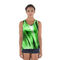 Abstract Background Green Women s Sport Tank Top