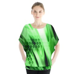 Abstract Background Green Blouse
