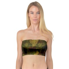 Textured Camo Bandeau Top