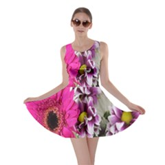 Purple White Flower Bouquet Skater Dress
