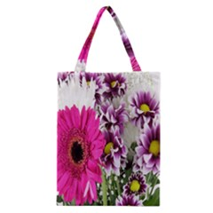 Purple White Flower Bouquet Classic Tote Bag