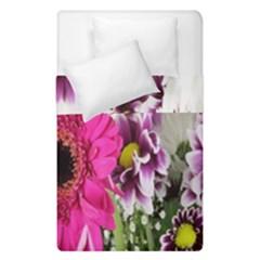 Purple White Flower Bouquet Duvet Cover Double Side (single Size)