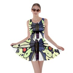 A Colorful Butterfly Image Skater Dress
