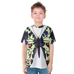 A Colorful Butterfly Image Kids  Cotton Tee
