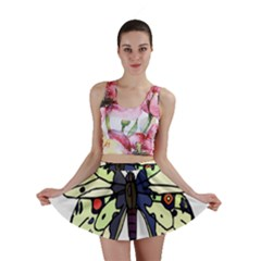 A Colorful Butterfly Image Mini Skirt
