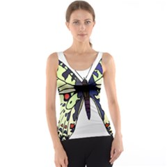 A Colorful Butterfly Image Tank Top