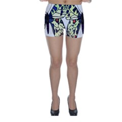 A Colorful Butterfly Image Skinny Shorts