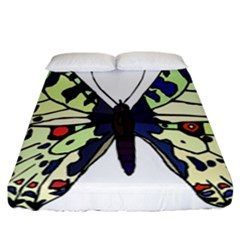 A Colorful Butterfly Image Fitted Sheet (california King Size)