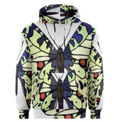 A Colorful Butterfly Image Men s Pullover Hoodie