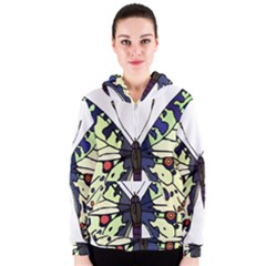 A Colorful Butterfly Image Women s Zipper Hoodie