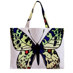 A Colorful Butterfly Image Zipper Mini Tote Bag