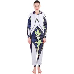 A Colorful Butterfly Image Hooded Jumpsuit (ladies)